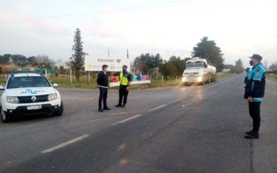 Operativos de la Policía Vial en Ruta Nacional N° 7