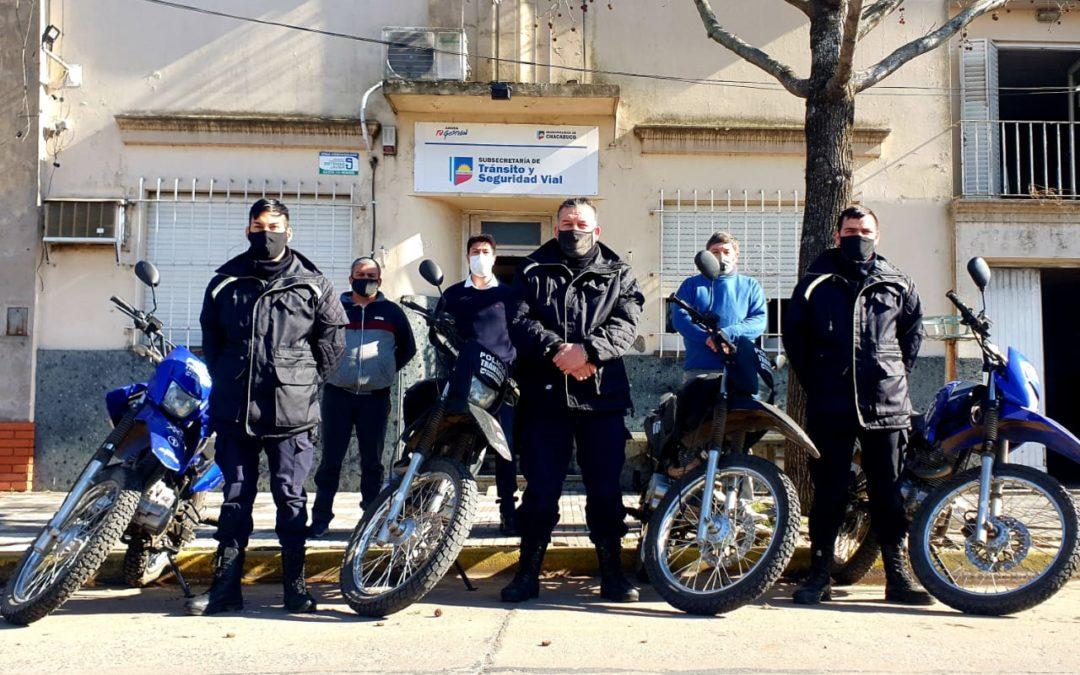 Se entregaron motos a la Dirección de Tránsito