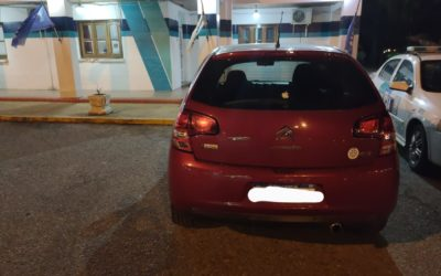 Secuestran en Chacabuco un automóvil sustraído en San Martín