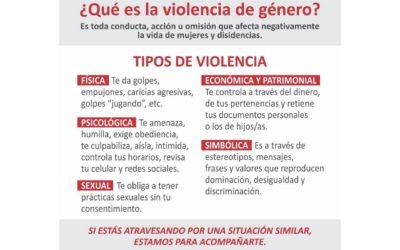 Si sufrís violencia de género, estamos para acompañarte